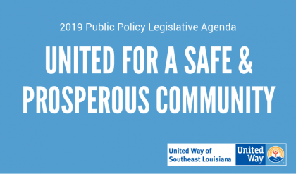 United Way of Southeast Louisiana-2018 Public Policy Legislative Agenda