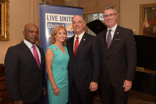 Charles Rice, First Lady Donna Edwards, Governor John Bel Edwards, Michael Williamson